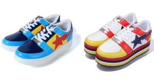 Bape, a tutto colore con la nuova collezione di sneakers Bapesta Low