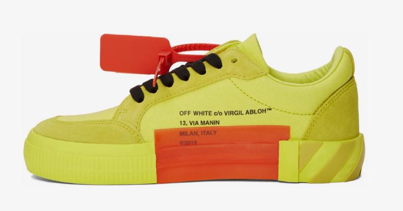 Off White: Le Low Vulcanized sneakers sono già disponibili in colori vivacissimi