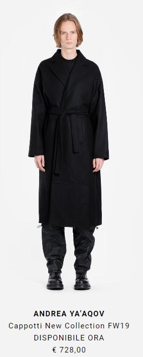 cappotto lungo alta moda