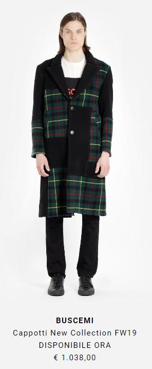 cappotto lungo uomo Buscemi