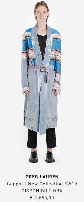 cappotto lungo uomo greg lauren