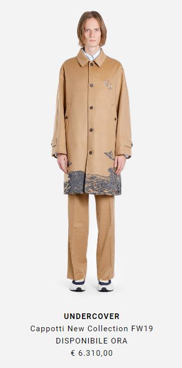 cappotto Undercover x Valentino