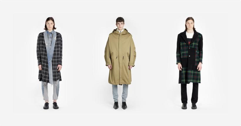 cappotto lungo alta moda uomo
