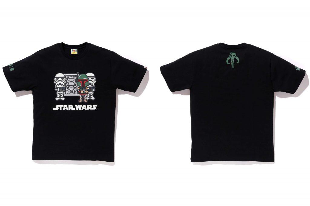 t-shirt guerre stellari nera