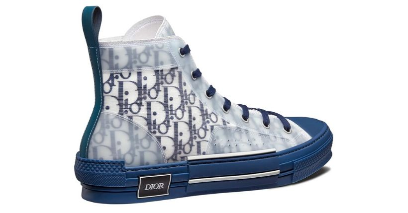 """Dior: La sneaker alta B23 è disponibile in una nuova colorazione """"Bleu"""""""