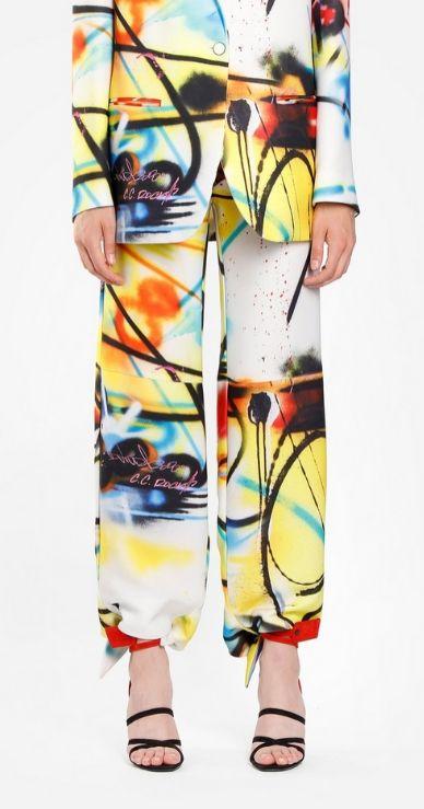 Pantalone Stampe Psichedeliche Off-White