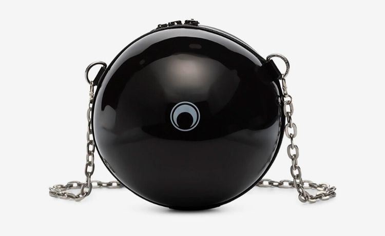 Black Dream Ball Shoulder Bag Marine Serre