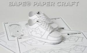 Spazio alla creatività, arrivano le nuovissime Bape Papercraft!