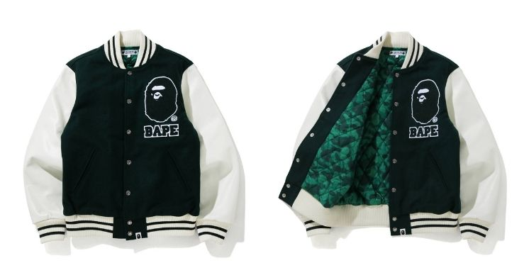 Bape x Undefeated x Adidas college jacket