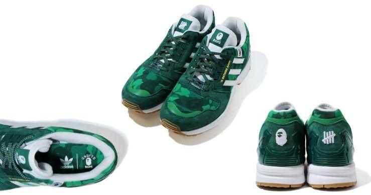 Bape x Undefeated x Adidas sneakers ZX 8000 verdi