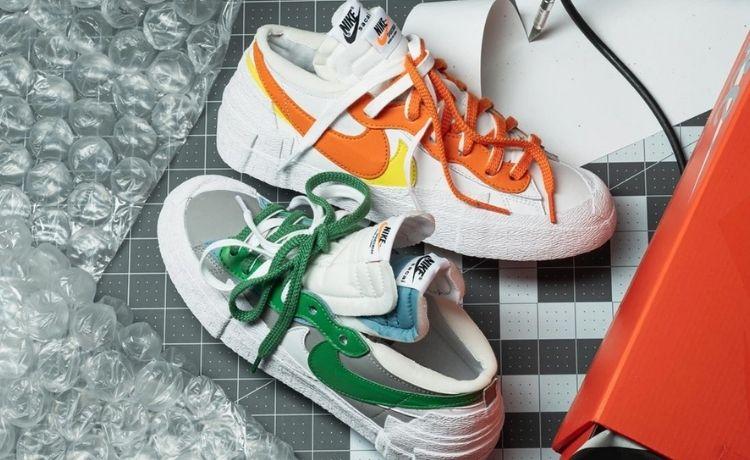"""Sacai x Nike Blazer Low: il 10 giugno arrivano il """"Classic Green"""" e il """"Magma Orange"""""""