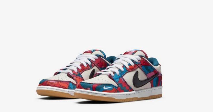 Migliori release Nike di luglio - SB Parra Dunk Low Pro Abstract Art